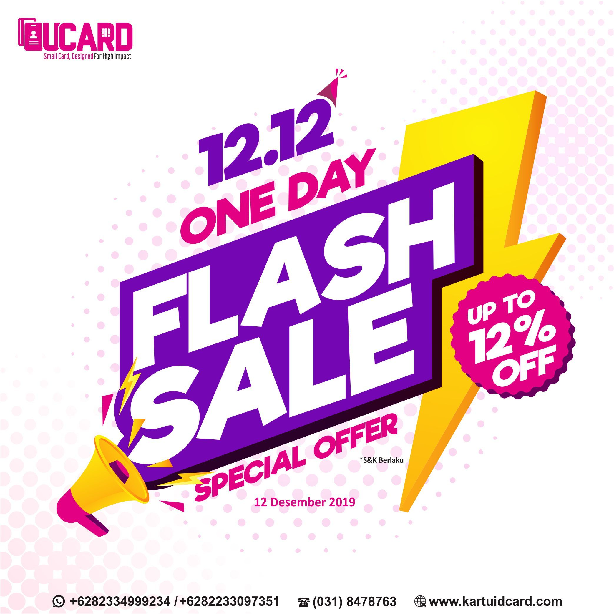 UCard 12.12 One Day Flash Sale Up to 12%